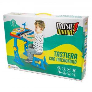 MUSIC MANIA PIANOLA CON SGABELLO E MICROFONO